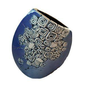 Handcrafted Tenmoku Art Pottery Vase Malaysia